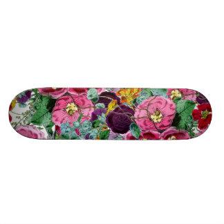 Groupe floral vintage plateaux de planche à roulettes