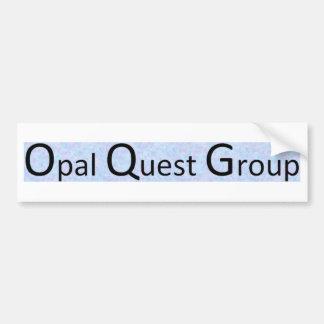 Groupe opale de recherche autocollant de voiture