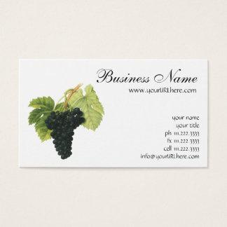 Groupe organique vintage de raisin de vin rouge, cartes de visite