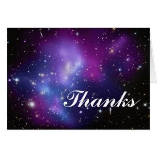 Groupe pourpre de galaxie merci cartes de vœux