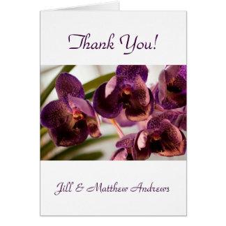 Groupe pur de fleur de cire de Vanda d'orchidée Carte De Vœux