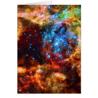 Groupe stellaire, image d'espace cartes de vœux