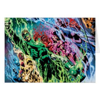 Groupe vert de lanterne - couleur carte de vœux