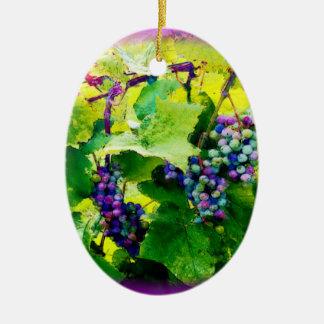 groupes d'ornement des raisins 17 ornement ovale en céramique
