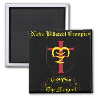 Groupies de Notre Billstedt l'aimant Magnet Carré
