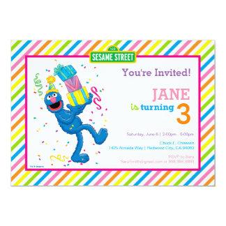 Grover a barré l'anniversaire carton d'invitation  12,7 cm x 17,78 cm