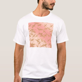Grue d'or d'origami t-shirt