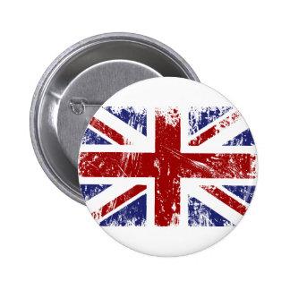 Grunge britannique de punk d'Union Jack de drapeau Badge Rond 5 Cm