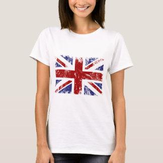 Grunge britannique de punk d'Union Jack de drapeau T-shirt