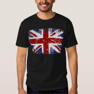Grunge britannique de punk d'Union Jack de drapeau T-shirts