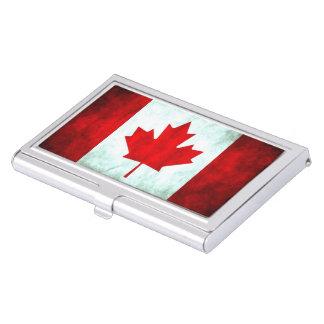 Grunge canadienne de drapeau porte-cartes de visite