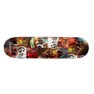 Grunge d'abrégé sur art de rue de Zizzago de Skateboard Customisable