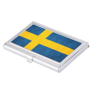 Grunge de drapeau de la Suède Étuis Pour Cartes De Visite
