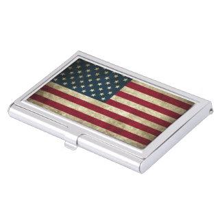 Grunge de drapeau des Etats-Unis Étui Pour Cartes De Visite