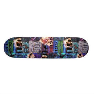 Grunge de l'abrégé sur 3A art de rue de Zizzago de Plateaux De Skateboards Customisés