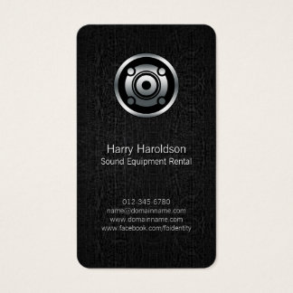 Grunge de location BusinessCard de haut-parleur de Cartes De Visite