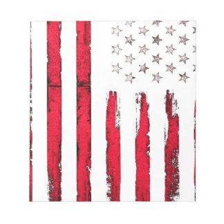 Grunge de rouge de drapeau américain bloc-note