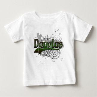 Grunge de tartan de Douglas T-shirt Pour Bébé