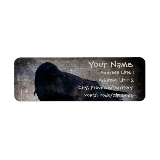 Grunge du Yukon Raven Étiquette D'adresse Retour