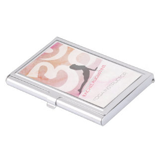 Grunge élégante de rose de symbole de l'OM de pose Porte-cartes De Visite