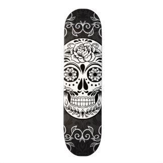 Grunge gothique blanche de sucre de noir décoratif mini skateboard 18,4 cm