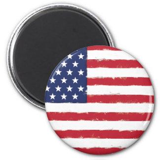 Grunge patriotique de drapeau américain vieille aimant