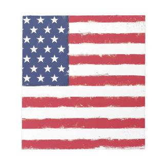 Grunge patriotique de drapeau américain vieille bloc-note