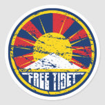 Grunge ronde libre du Thibet Adhésifs