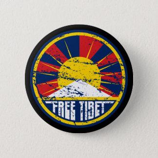 Grunge ronde libre du Thibet Badge