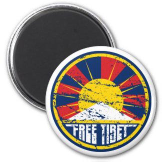 Grunge ronde libre du Thibet Magnet Rond 8 Cm