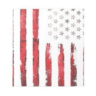 Grunge ROUGE vintage de drapeau américain Bloc-note