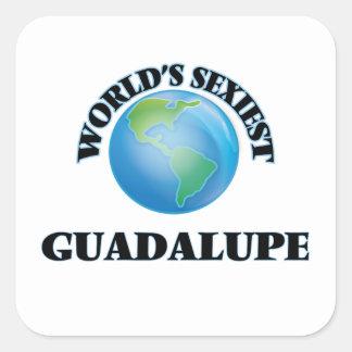 Guadalupe le plus sexy du monde autocollants carrés