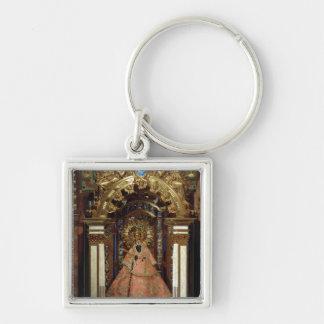 Guadalupe Madonna Porte-clé Carré Argenté
