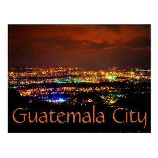 Guatemala City, Guatemala, C.A. la nuit Carte Postale
