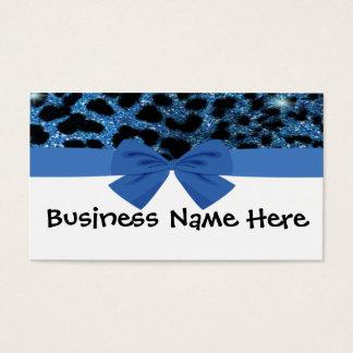 Guépard bleu de scintillement avec le carte de