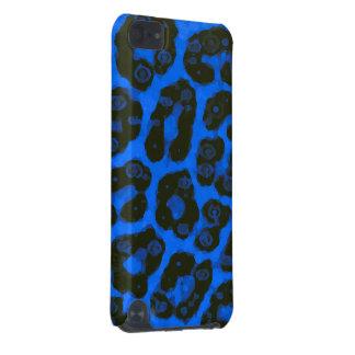 Guépard peint lumineux de noir bleu coque iPod touch 5G