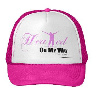 Guéri sur mon casquette de manière (rose, blanc,