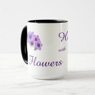 Guérison avec la conception de fleurs mug