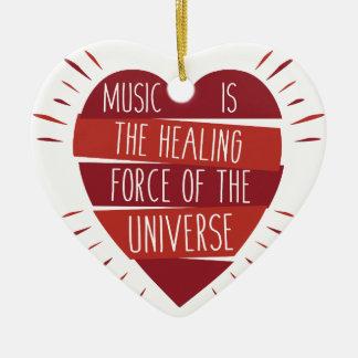 Guérison de musique ornement cœur en céramique
