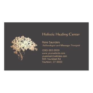 Guérison holistique et naturelle d'arbre d'or de z modèles de cartes de visite
