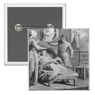 Guérison miraculeuse d'une femme aveugle pin's