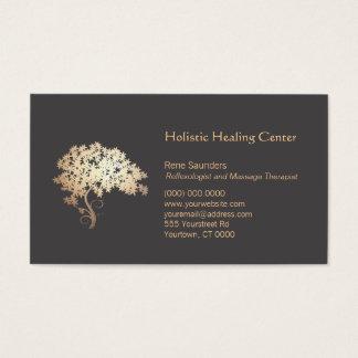 Guérisseur holistique et naturel d'arbre de zen cartes de visite