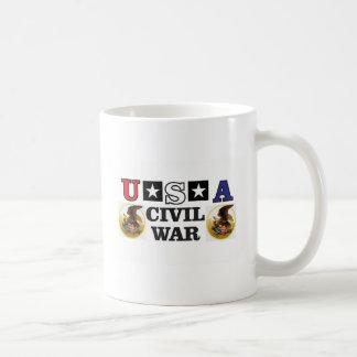guerre civile blanche et bleue rouge mug