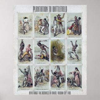 GUERRE CIVILE : de la plantation au champ de Poster