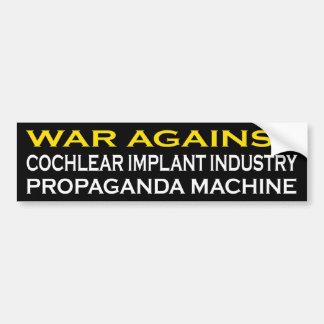 Guerre contre la machine de Prograganda Autocollant De Voiture