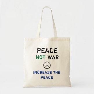 Guerre de paix pas -- Augmentez la paix Sac En Toile Budget