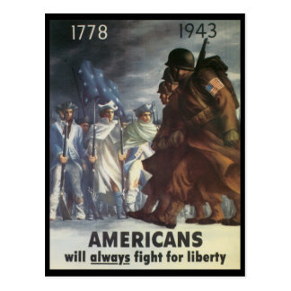 Guerre mondiale de combat d'Américains 2 Carte Postale