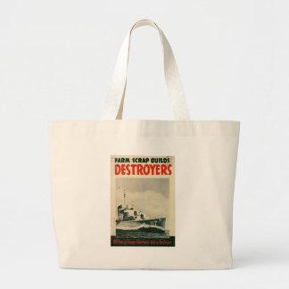 Guerre mondiale de destroyers 2 sacs de toile