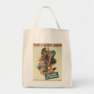 Guerre mondiale de jardin de victoire 2 sac en toile épicerie
