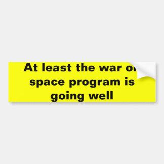 Guerre sur le programme spatial autocollant de voiture